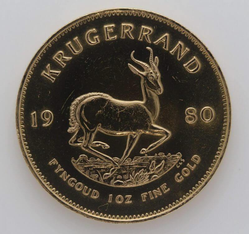 1980 Krugerrand 1oz Fine Gold Coin - South African Mint 1