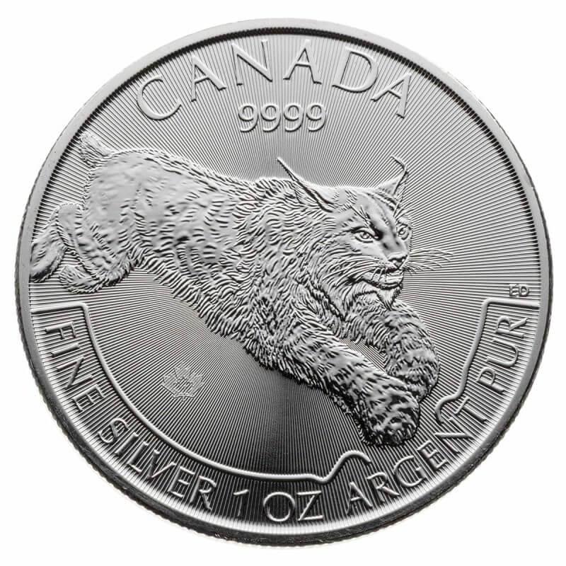 2017 Predator Series - Canadian Lynx 1oz .9999 Silver Bullion Coin - Royal Canadian Mint 1