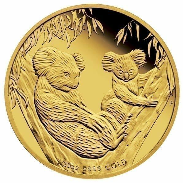 2011 Australian Koala 1/25oz .9999 Gold Proof Coin - The Perth Mint 9