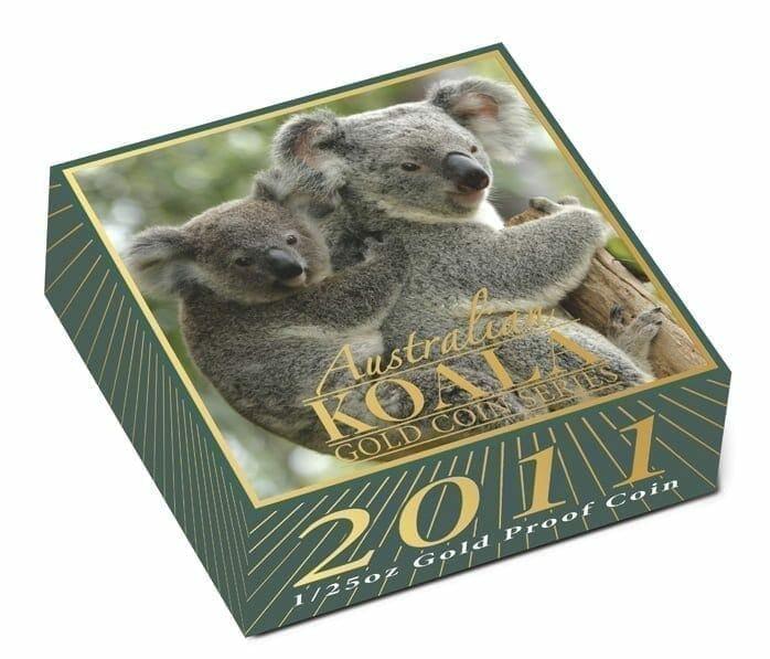 2011 Australian Koala 1/25oz .9999 Gold Proof Coin - The Perth Mint 2