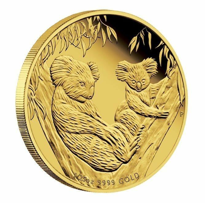 2011 Australian Koala 1/25oz .9999 Gold Proof Coin - The Perth Mint 1