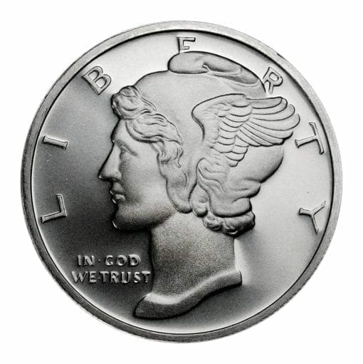 2013 Mercury Design .999 1 oz Silver Round 1