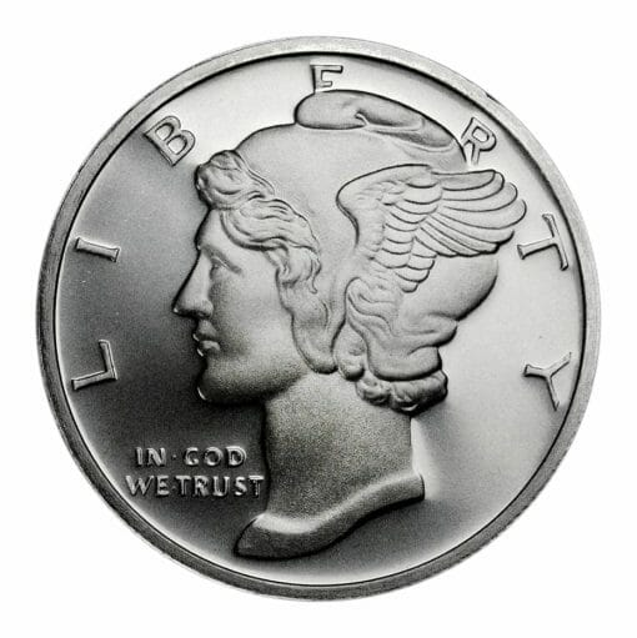 2013 Mercury Design .999 1 oz Silver Round 1