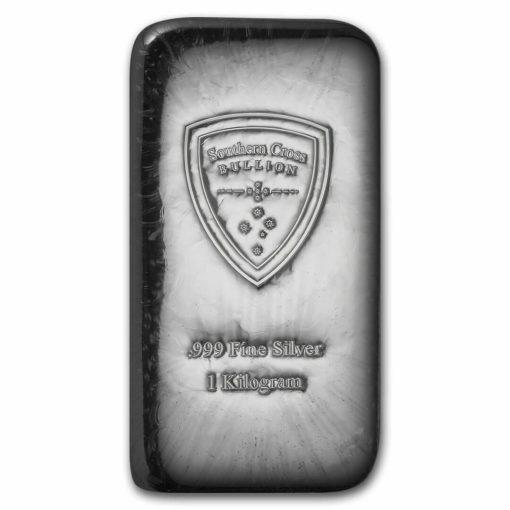Southern Cross Bullion 1kg .999 Silver Cast Bullion Bar 1