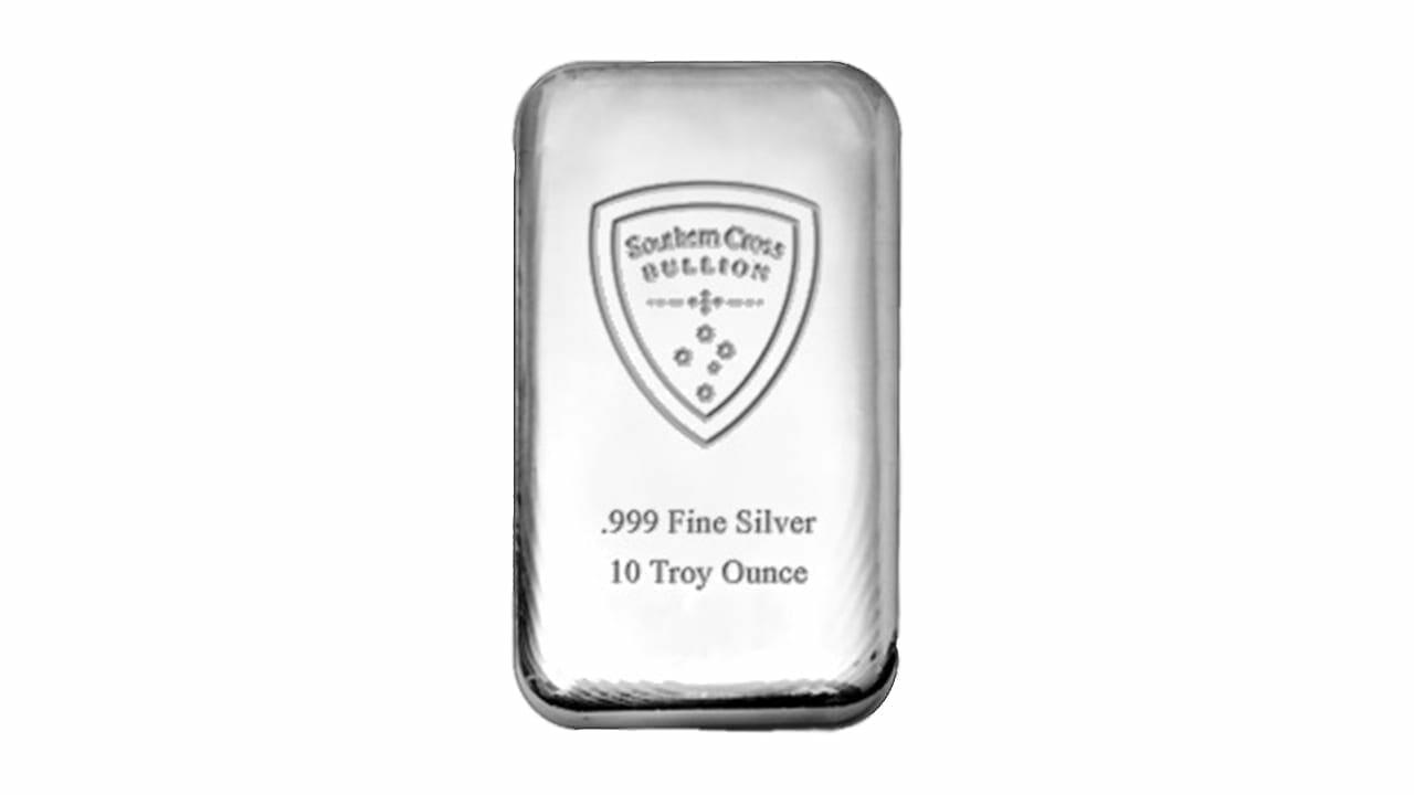 Southern Cross Bullion 10oz .999 Silver Cast Bullion Bar 1