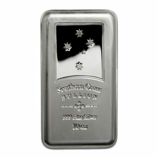 Southern Cross Bullion 10oz .999 Silver Minted Bullion Bar 1