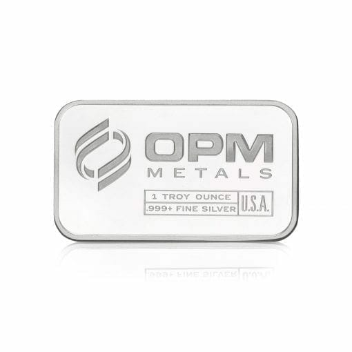 OPM 1oz .9999 Silver Minted Bullion Bar – Ohio Precious Metals 1