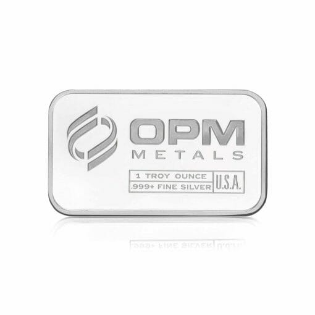 OPM 1oz .9999 Silver Minted Bullion Bar – Ohio Precious Metals 1