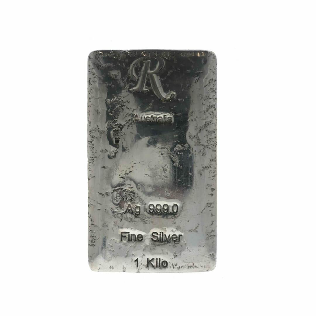 R Australia 1kg .999 Silver Hand Poured Bullion Bar 3