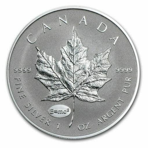 2015 Maple Leaf with Einstein Privy 1oz .9999 Silver Bullion Coin - Reverse Proof - Royal Canadian Mint 1