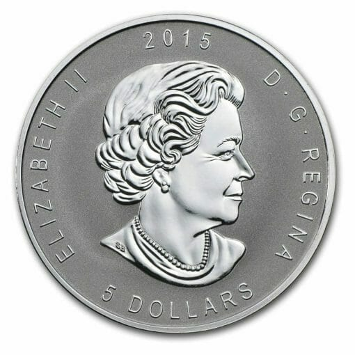 2015 Maple Leaf with Einstein Privy 1oz .9999 Silver Bullion Coin - Reverse Proof - Royal Canadian Mint 3