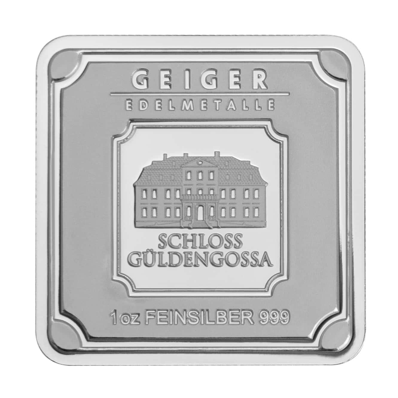 Geiger Edelmetalle 1oz .999 Silver Minted Bullion Bar 1