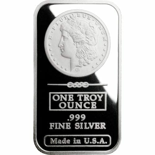 Morgan Dollar Design 1oz .999 Fine Silver Bar - Great American Mint 1