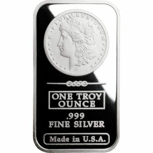 Morgan Dollar Design 1oz .999 Fine Silver Bar - Great American Mint 1