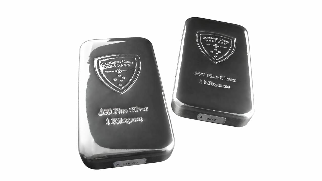 Southern Cross Bullion 1kg .999 Silver Cast Bullion Bar 2