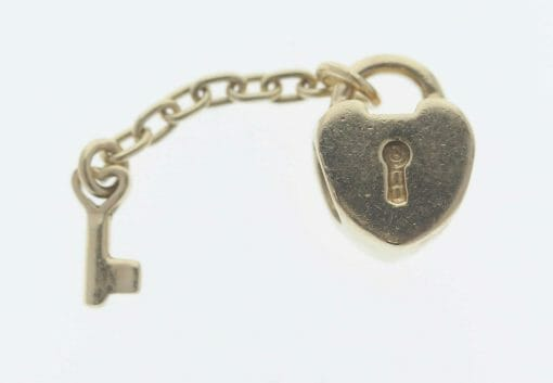 Pandora 14ct Gold Key To My Heart Charm - 750341 - Retired ALE 585 2