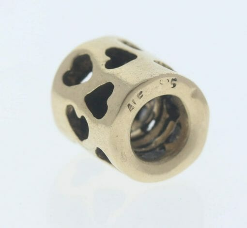 Pandora 14ct Gold Tunnel of Love Charm - 750299 - Retired ALE 585 3