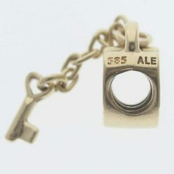 Pandora 14ct Gold Key To My Heart Charm - 750341 - Retired ALE 585 7