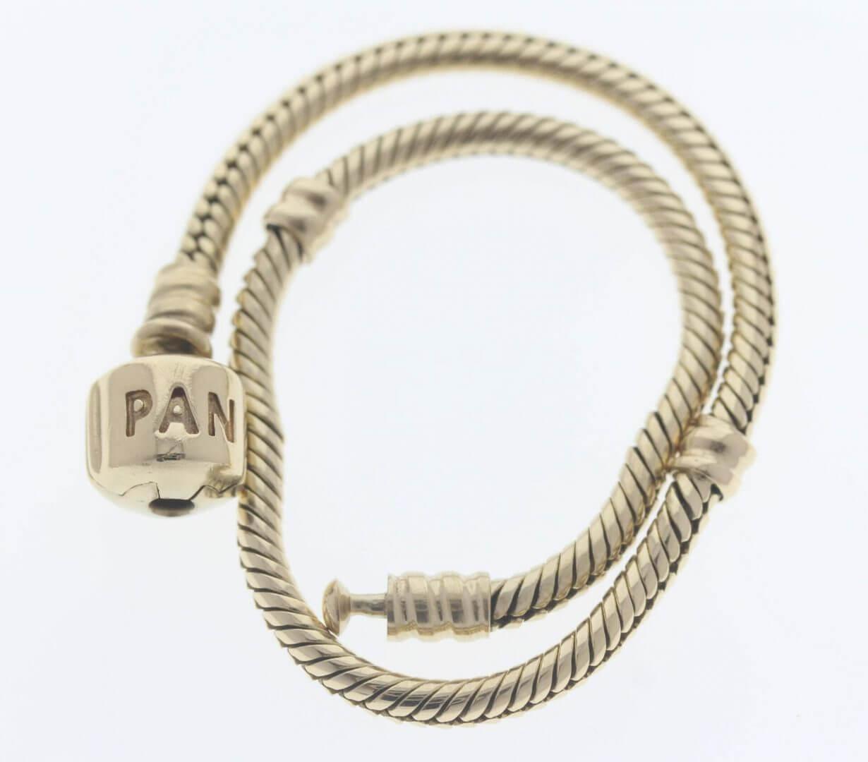 Pandora Moments 14ct Gold Charm Bracelet - 550702 - ALE 585 5