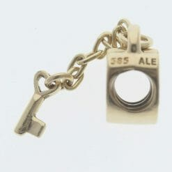 Pandora 14ct Gold Key To My Heart Charm - 750341 - Retired ALE 585 8