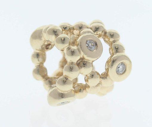 Pandora 14ct Gold Precious Memory Charm with Diamonds - 750459D - Retired ALE 585 4