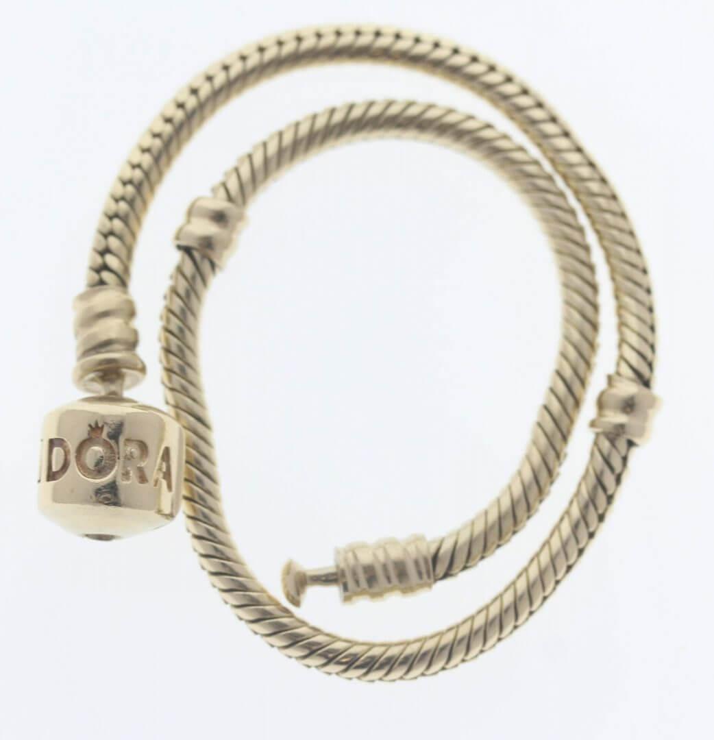 Pandora Moments 14ct Gold Charm Bracelet - 550702 - ALE 585 6
