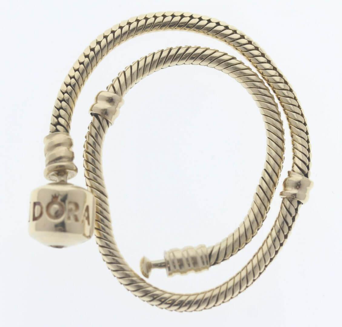 Pandora Moments 14ct Gold Charm Bracelet - 550702 - ALE 585 7