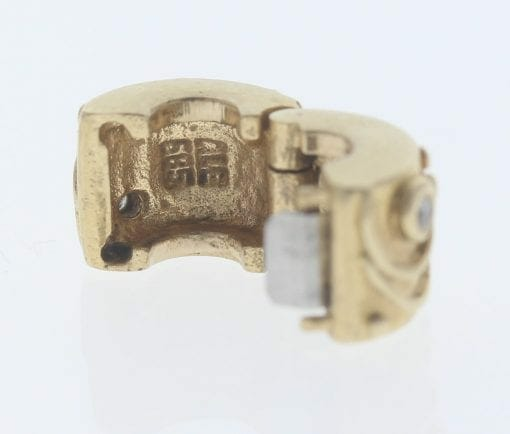 Pandora 14ct Gold Clip Charm with Diamonds Babbling Brook - 750418D - Retired ALE 585 5