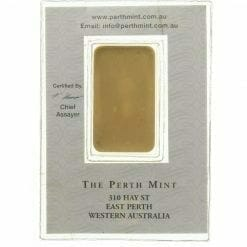 VINTAGE The Perth Mint 20g .9999 Gold Minted Bullion Bar 3