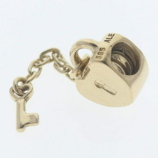 Pandora 14ct Gold Key To My Heart Charm - 750341 - Retired ALE 585 1