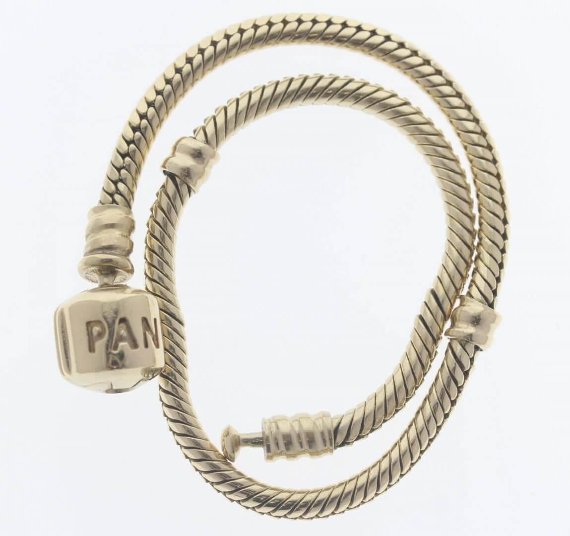 Pandora Moments 14ct Gold Charm Bracelet - 550702 - ALE 585 9