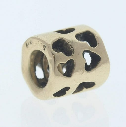 Pandora 14ct Gold Tunnel of Love Charm - 750299 - Retired ALE 585 1
