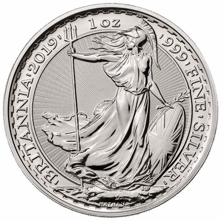 2019 Britannia 1oz .999 Silver Coin 1
