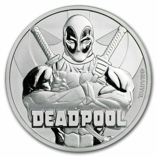 2018 Marvel Series - Deadpool - 1oz .9999 Silver Bullion Coin - The Perth Mint 1