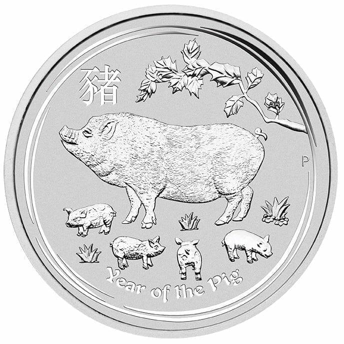 2019 Year of the Pig 1oz .9999 Silver Bullion Coin - Lunar Series II 1