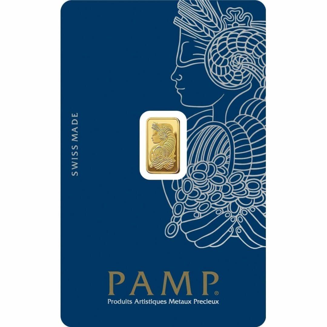 Lady Fortuna 1g .9999 Gold Minted Bullion Bar - PAMP Suisse 1