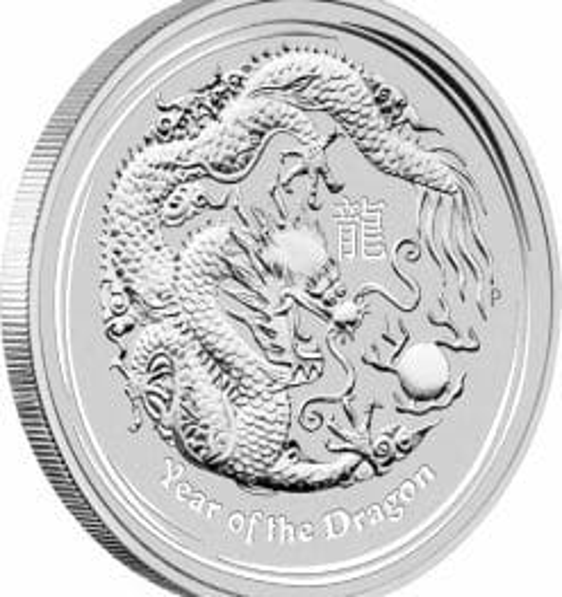 2012 Year Of The Dragon 5oz .999 Silver Bullion Coin - Lunar Series II - The Perth Mint 4
