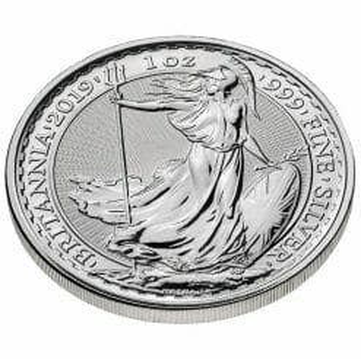 2019 Britannia 1oz .999 Silver Coin 5
