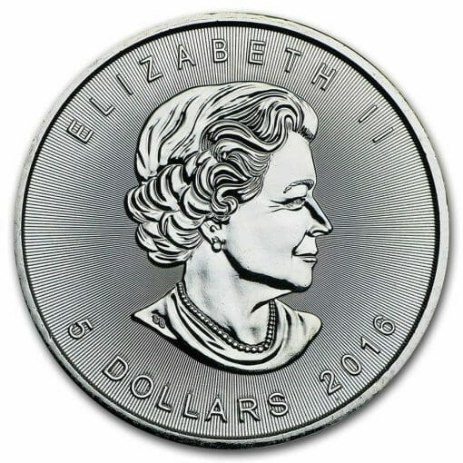2016 Maple Leaf 1oz .9999 Silver Bullion Coin 2