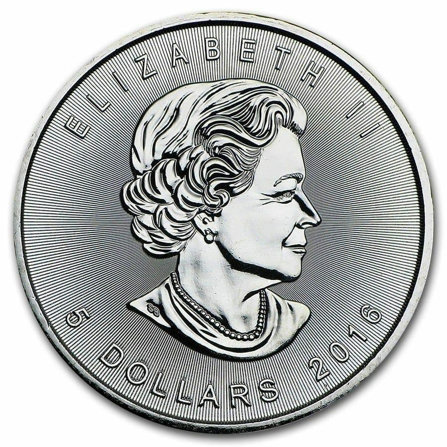 2016 Maple Leaf 1oz .9999 Silver Bullion Coin 4