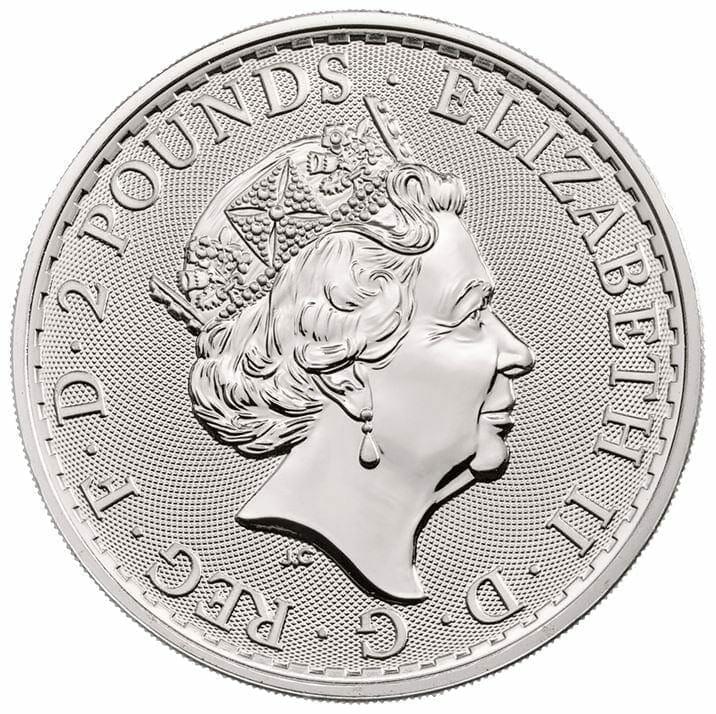 2019 Britannia 1oz .999 Silver Coin 2