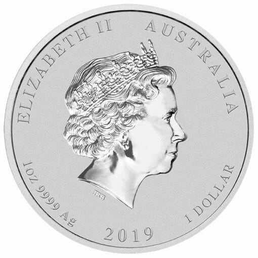 2019 Year of the Pig with Lion Privy 1oz .9999 Silver Bullion Coin - Lunar Series II - The Perth Mint 3