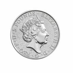 2017 Queen's Beasts Griffin of Edward III 2oz .9999 Silver Bullion Coin - Royal British Mint 3
