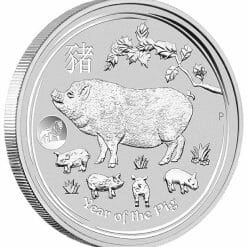 2019 Year of the Pig with Lion Privy 1oz .9999 Silver Bullion Coin - Lunar Series II - The Perth Mint 4