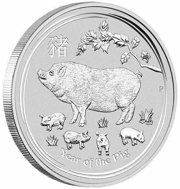 2019 Year of the Pig 1oz .9999 Silver Bullion Coin - Lunar Series II 4