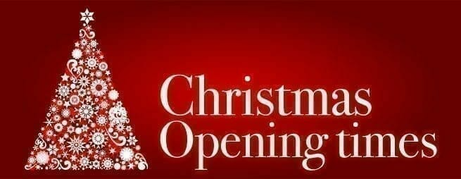 Holiday Opening Times 1