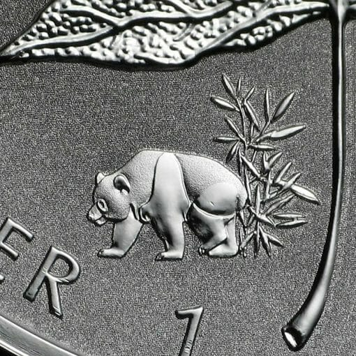 2017 Maple Leaf with Panda Privy 1oz .9999 Silver Bullion Coin - Reverse Proof - Royal Canadian Mint 2