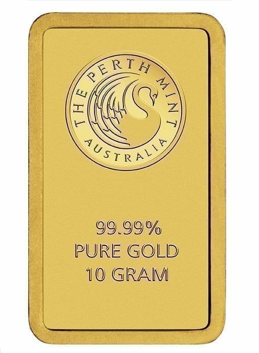 Perth Mint Kangaroo 10g .9999 Gold Minted Bullion Bar 3
