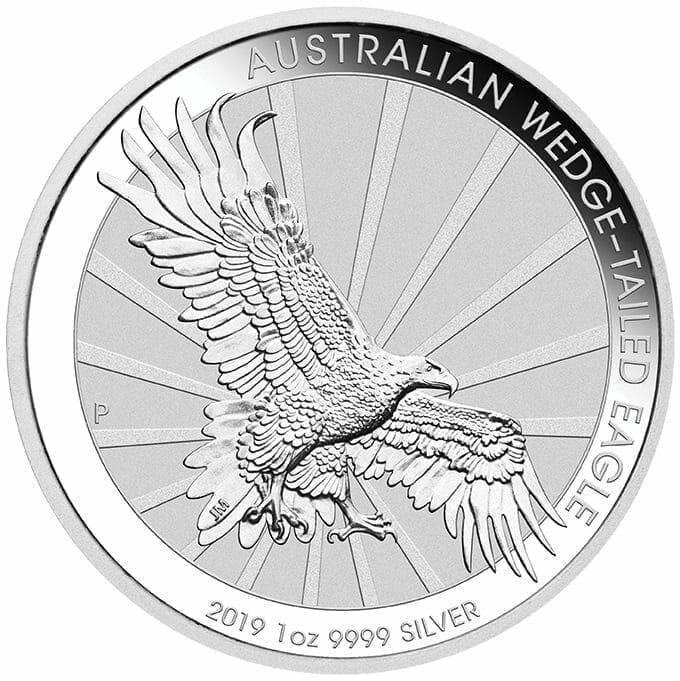 2019 Australian Wedge-Tailed Eagle 1oz .9999 Silver Bullion Coin 1