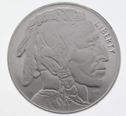 Buffalo / Indian Head 1oz .999 Silver Bullion Coin - Highland Mint 1